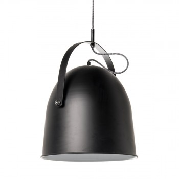 Luinaire suspension cloche métal noir ø35 branch bell de Drawer