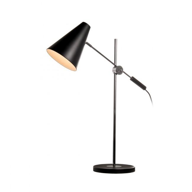 Lampe à poser astor noir et chrome de Drawer