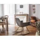Rocking Chair béton et bois Hauteville