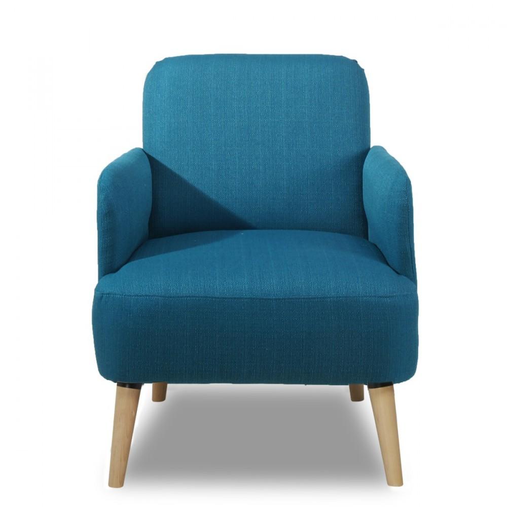 fauteuil r tro design bleu brooks look nordique by drawer. Black Bedroom Furniture Sets. Home Design Ideas