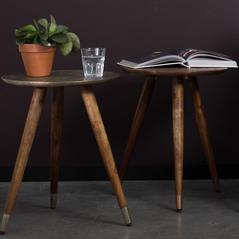 table d 39 appoint vintage tripode bast par. Black Bedroom Furniture Sets. Home Design Ideas