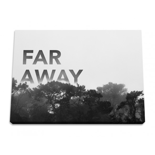 "Toile imprimée ""Far away"""