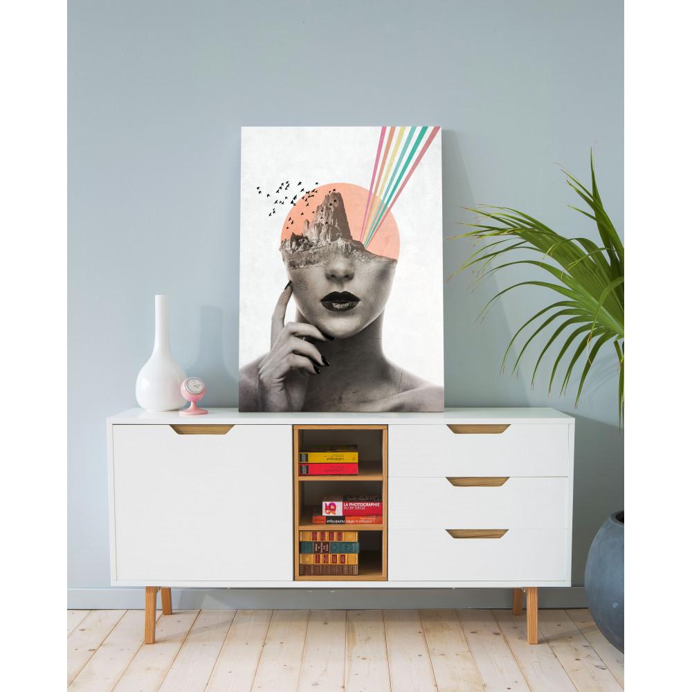 tableau original et rectangulaire design pop lady drawer. Black Bedroom Furniture Sets. Home Design Ideas