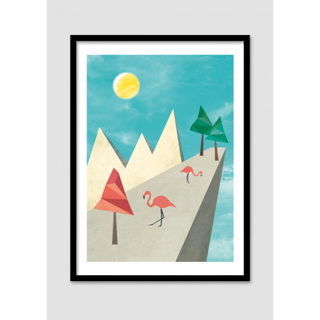 Image Encadr E The Flamingo Land Drawer