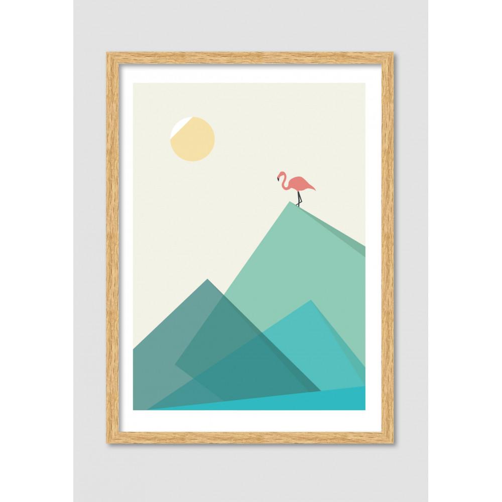 Affiche Encadr E Flamand Rose Flamingo Drawer