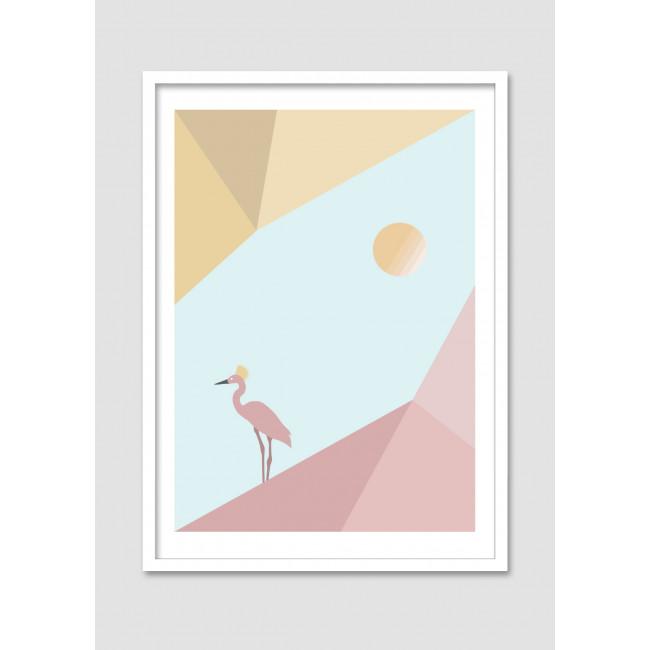 "Affiche encadrée ""Rare bird"""