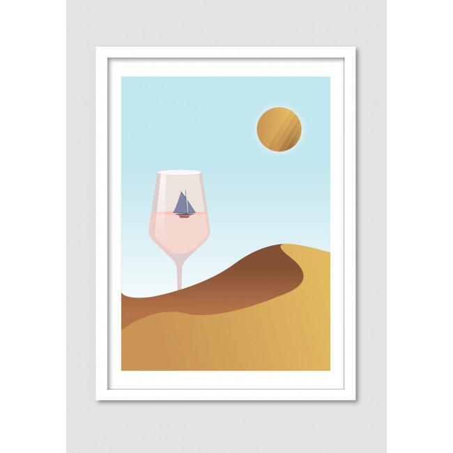 """Affiche encadrée minimaliste """"Desert dream"""""""