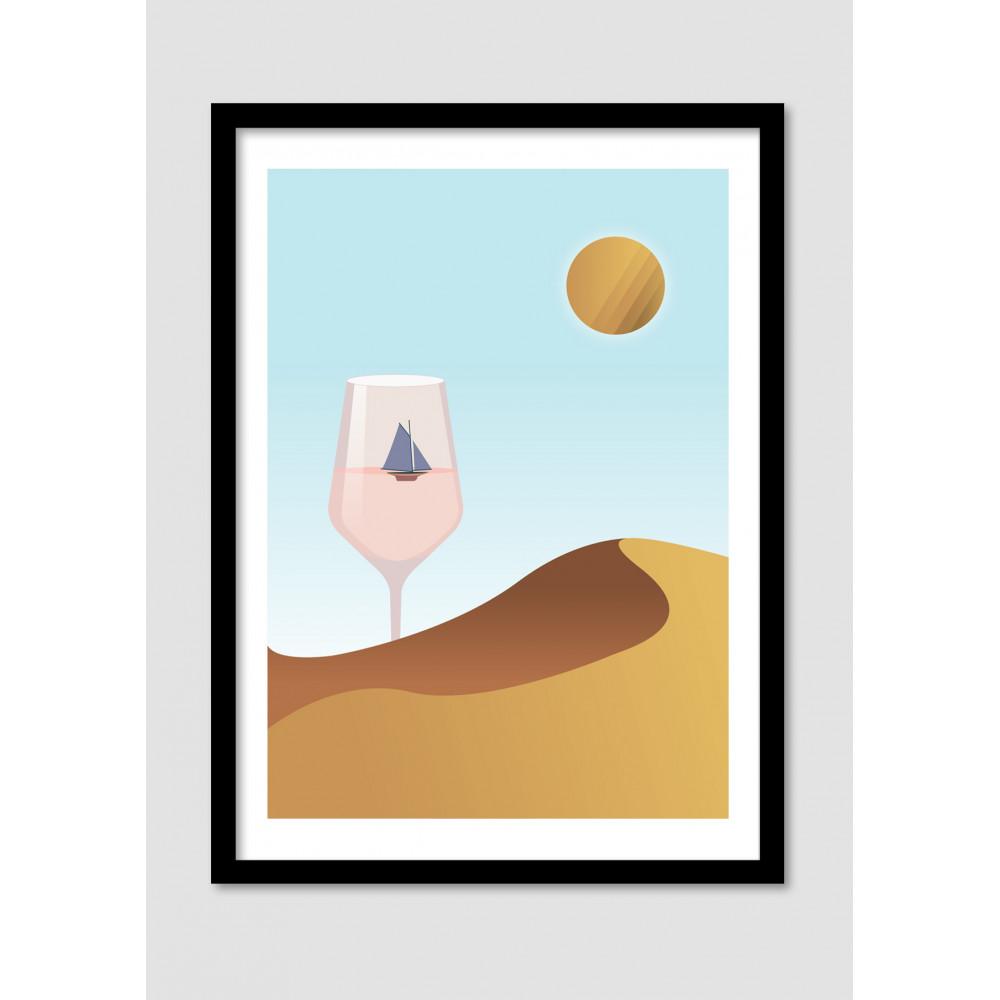 Affiche Dada Minimaliste Desert Dream Drawer