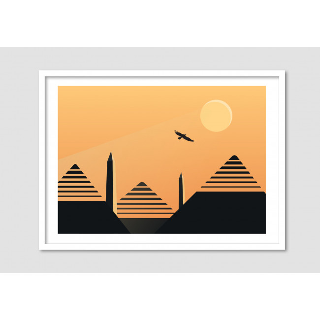 """Affiche encadrée minimaliste """"Desert eagle"""""""