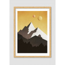 """Affiche encadrée minimaliste """"Galactic mountains"""""""