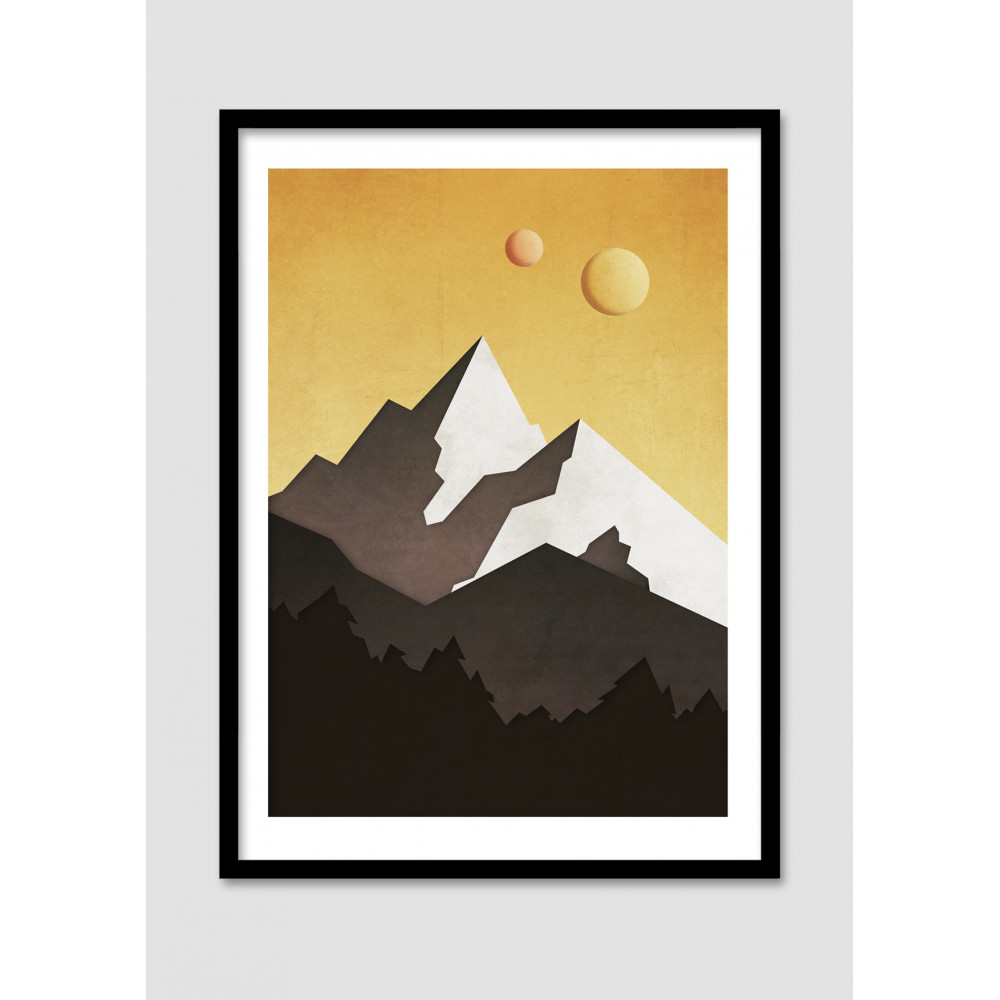 affiche minimaliste galactic mountains drawer