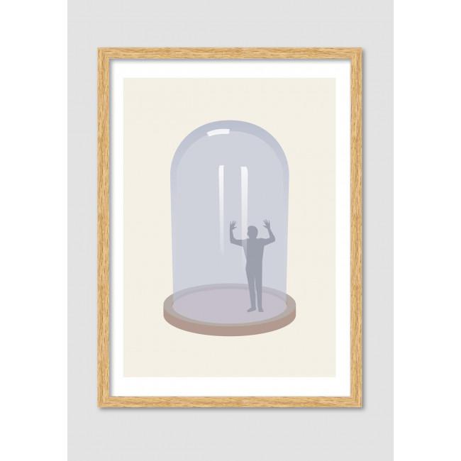 """Affiche encadrée minimaliste """"Glass jail"""""""