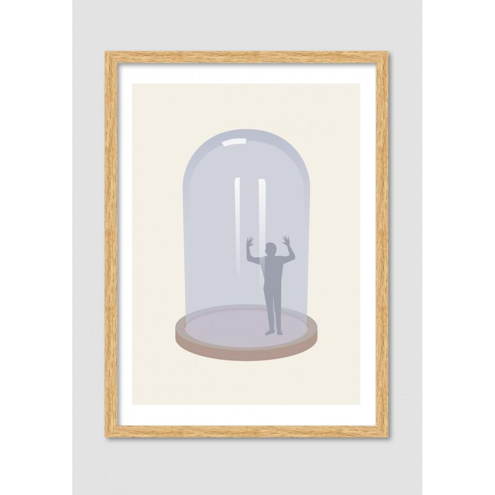 Affiche minimaliste glass jail drawer for Affiche minimaliste