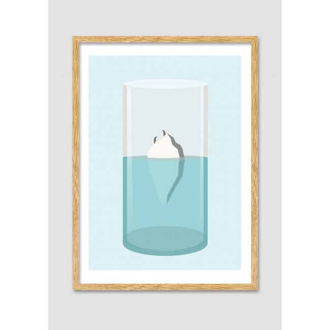 "Affiche encadrée minimaliste ""In the freshness"""