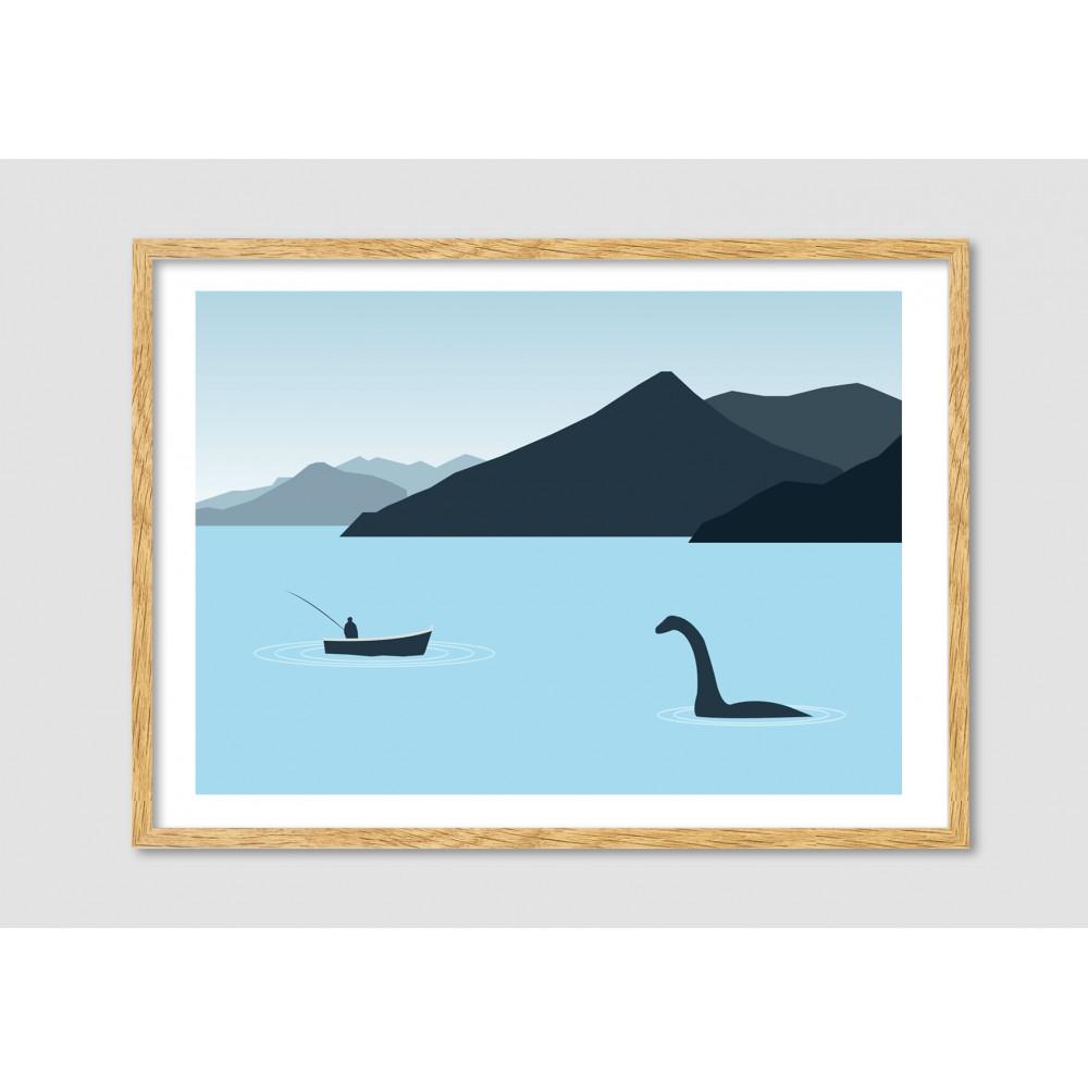 Affiche Minimaliste Loch Ness Drawer