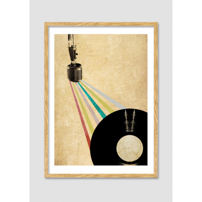 """Collage vintage """"The music spell (part 1)"""""""