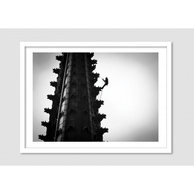 "Photomontage noir et blanc ""Bravery"""