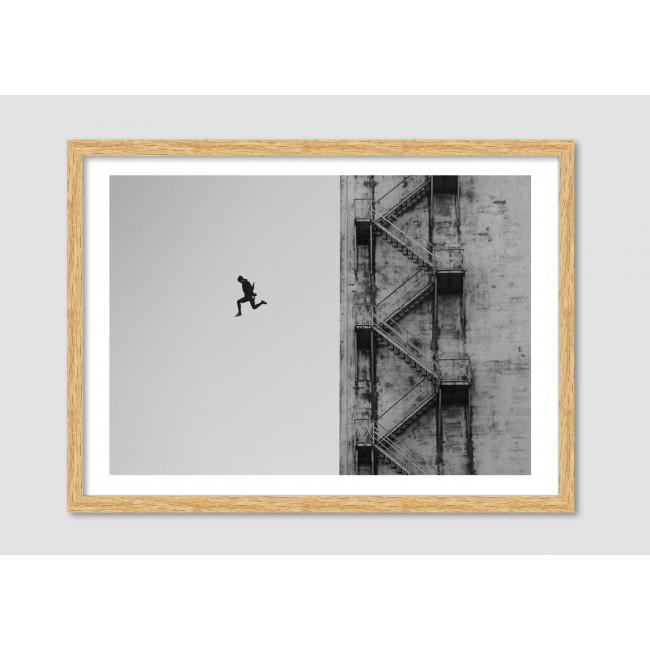 """Photomontage noir et blanc """"Unstoppable"""""""