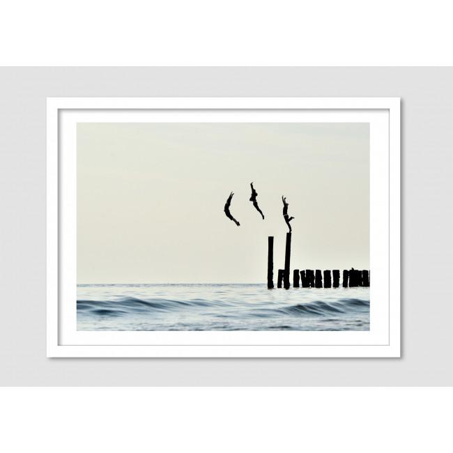 """Photomontage noir et blanc """"The audacious"""""""