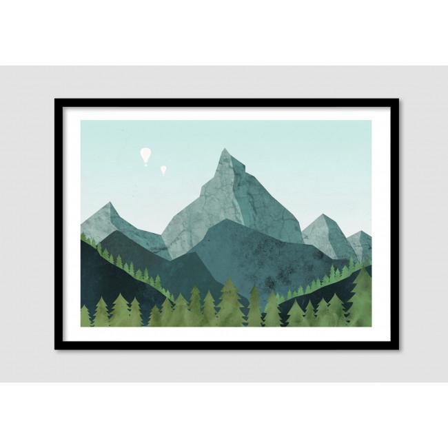 """Affiche encadrée minimaliste """"Paramount"""""""