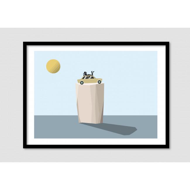 """Affiche encadrée minimaliste """"Just chilling"""""""