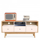 Meuble TV design scandinave 3 tiroirs Skoll