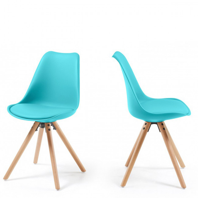 Lot de 2 chaises design grises Ralf Wood