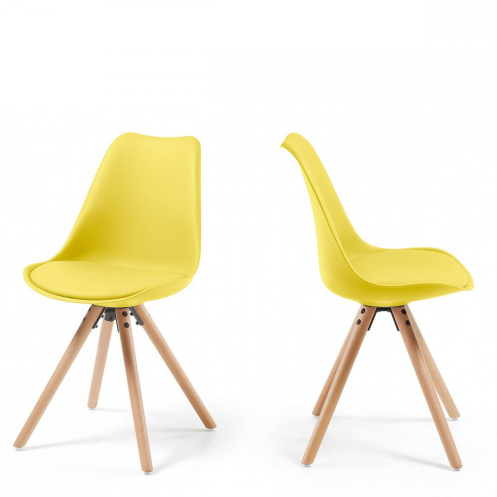 Chaises design ralf wood style eames par drawer for Les chaises design