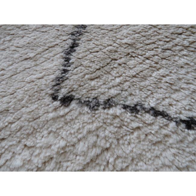 Tapis de salon style berbère en laine  beige et gris Pavot