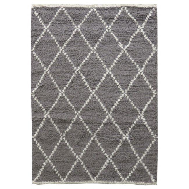 Tapis style berbère en laine blanche et grise Masala