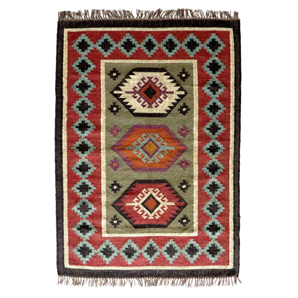 tapis kilim en laine et jute sanjoli by drawer. Black Bedroom Furniture Sets. Home Design Ideas