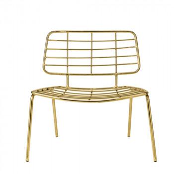 Chaise lounge design métal or Mesh Bloomingville