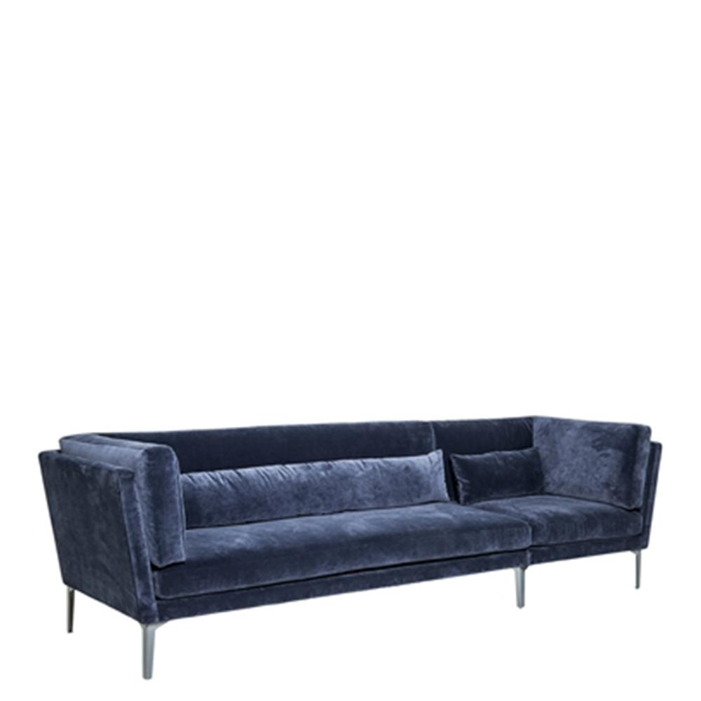Canape Velours Bleu Paon Le Havre Design