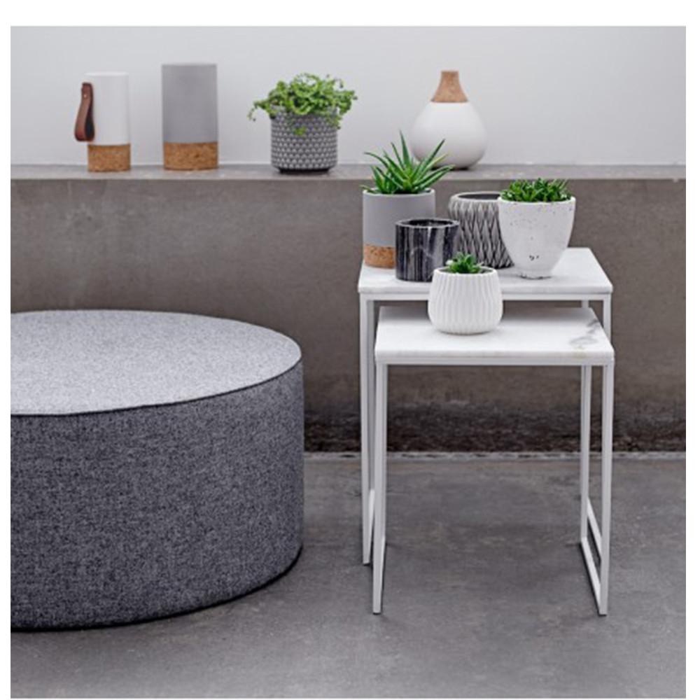 Tables basses marbre et m tal x2 bloomingville - Tables basses carrees ...