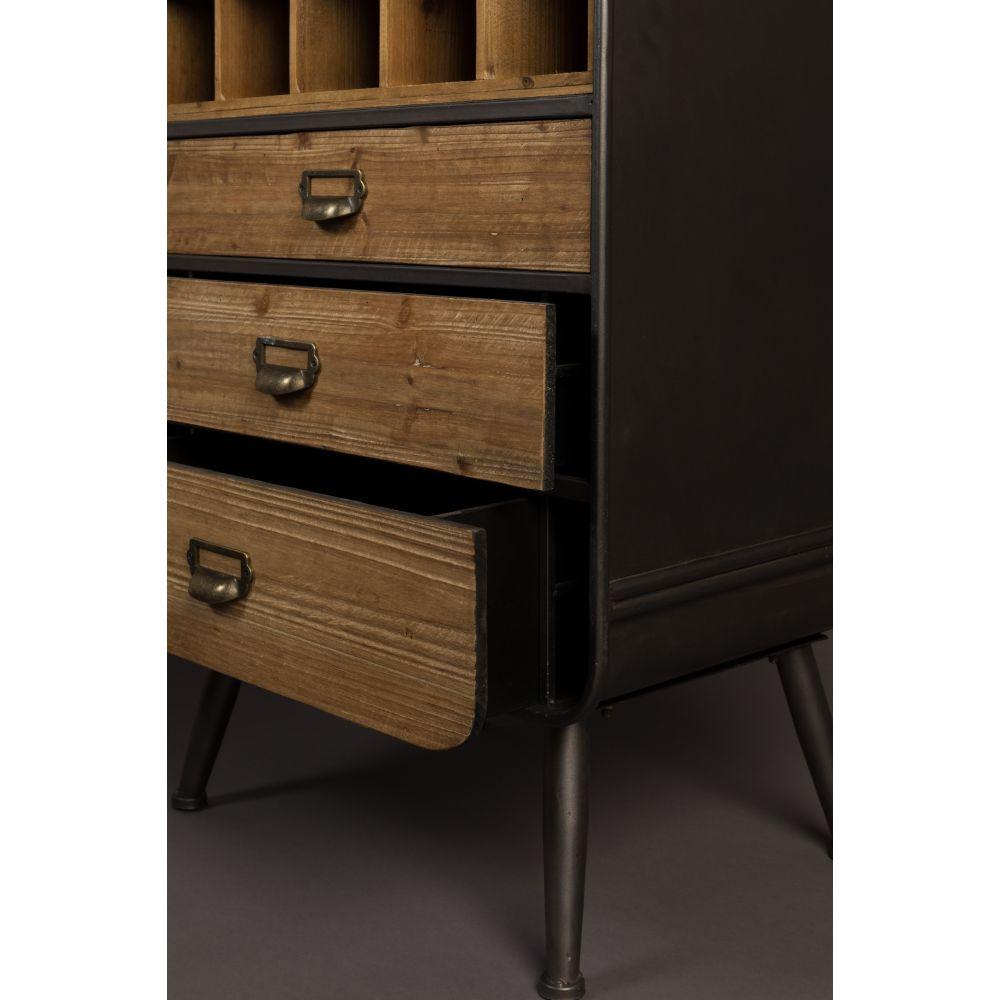 armoire cave vins m tal et bois vino dutchbone drawer. Black Bedroom Furniture Sets. Home Design Ideas
