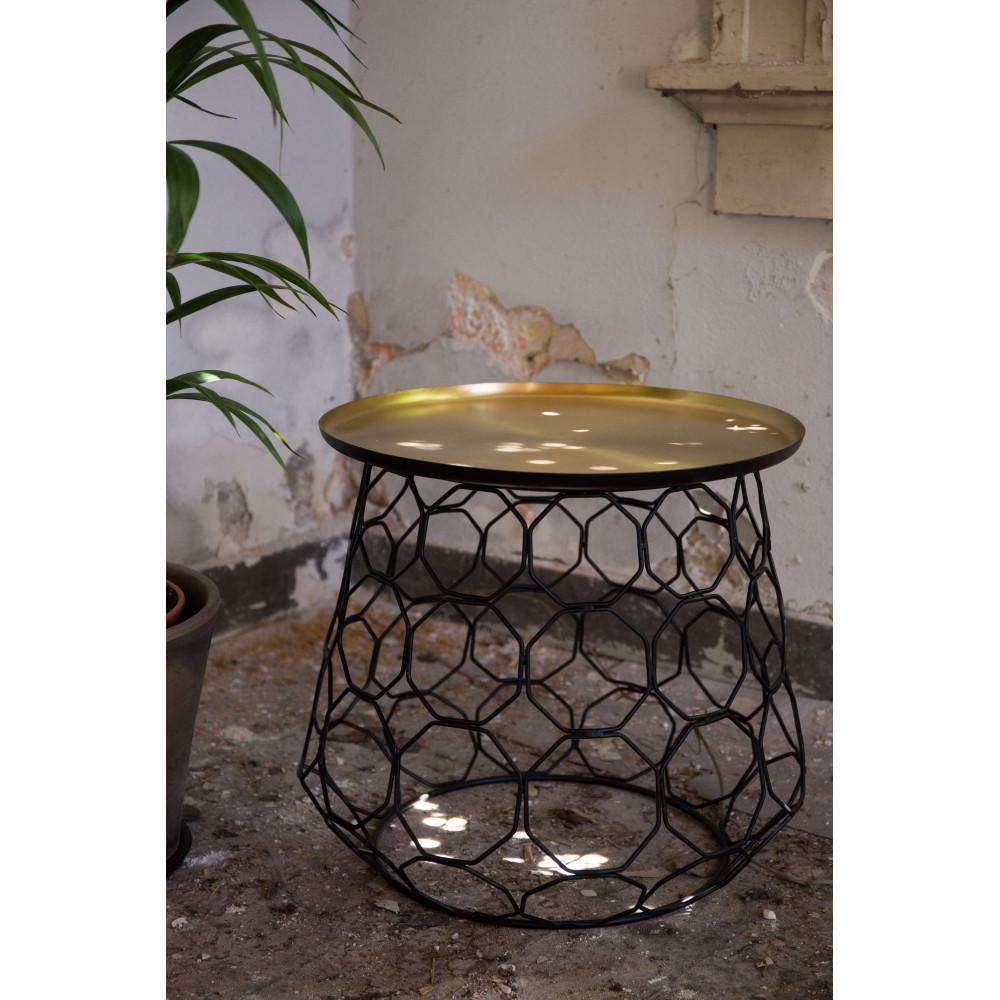 table d 39 appoint m tal finitions dor e moulin. Black Bedroom Furniture Sets. Home Design Ideas