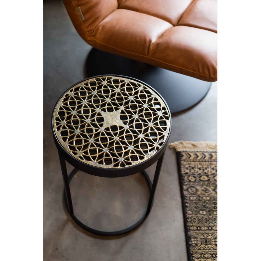 table d 39 appoint design m tal grav sari by drawer. Black Bedroom Furniture Sets. Home Design Ideas