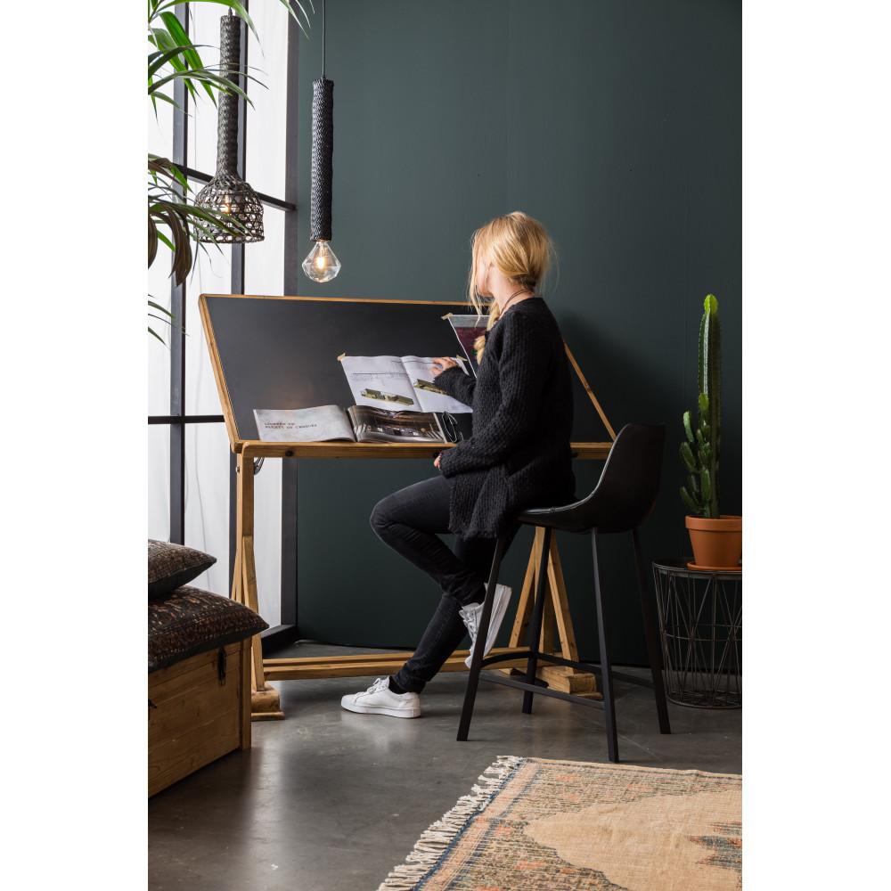 bureau d 39 artiste en bois de sapin stilo dutchbone. Black Bedroom Furniture Sets. Home Design Ideas