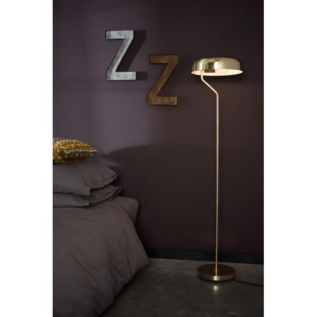 Lampadaire design métal fintions dorées Eclipse