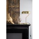 Lampe à poser design métal finitions dorées Eclipse