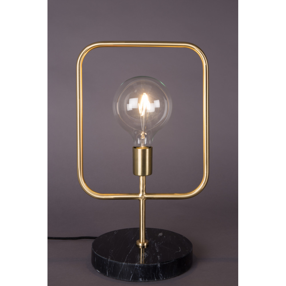 Lampe poser industrielle m tal et marbre cubo dutchbone for But lampe a poser