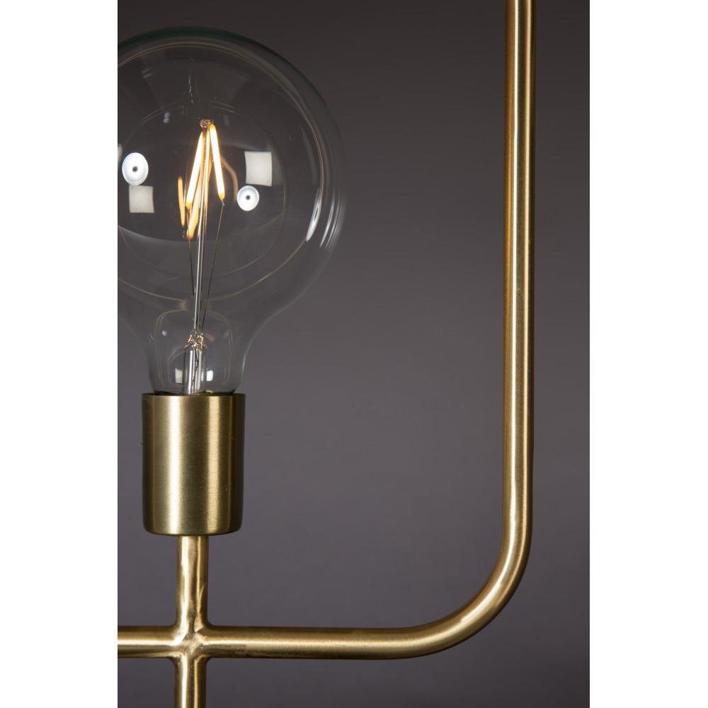 Lampe poser industrielle m tal et marbre cubo dutchbone for Lampe a poser style industriel