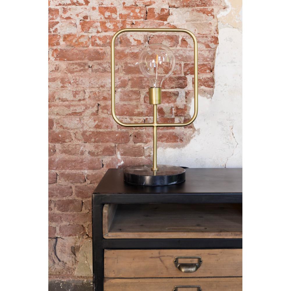 Lampe à poser industrielle métal et marbre Cubo Dutchbone - Drawer