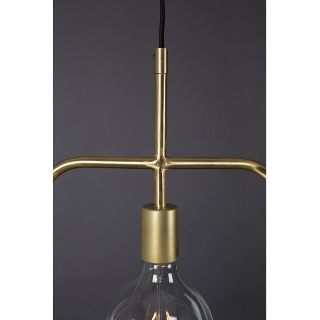 Suspension design industriel métal fintions dorées Cubo