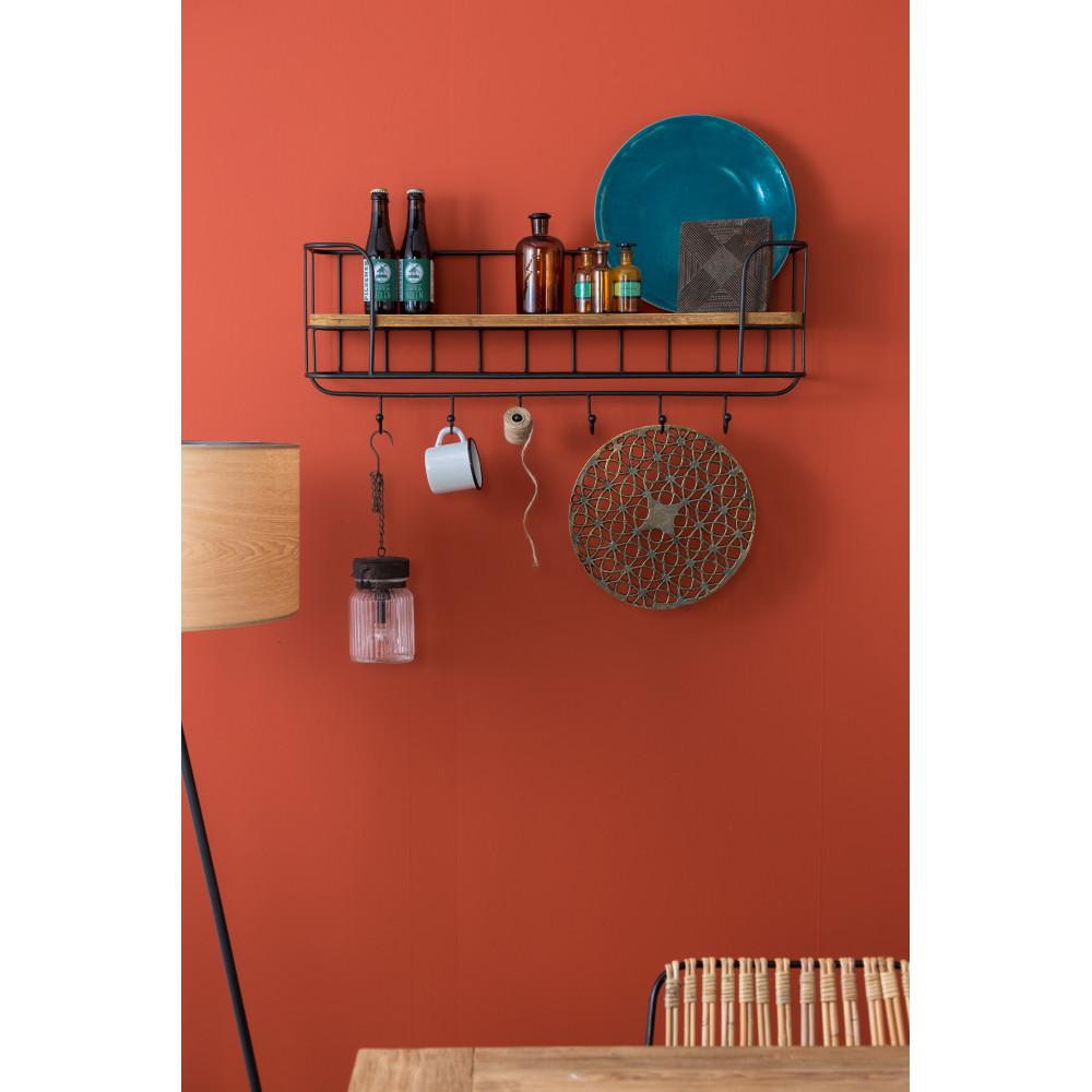 porte manteaux mural vintage m tal et bois stack dutchbone. Black Bedroom Furniture Sets. Home Design Ideas