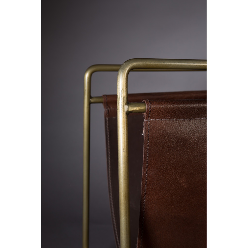 porte revues vintage cuir et m tal scholar dutchbone drawer. Black Bedroom Furniture Sets. Home Design Ideas
