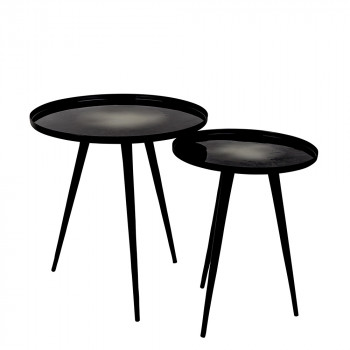 Lot de 2 tables d'appoint design Flow