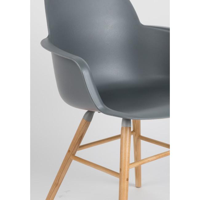 Lot de 2 fauteuils résine et bois Albert Kuip