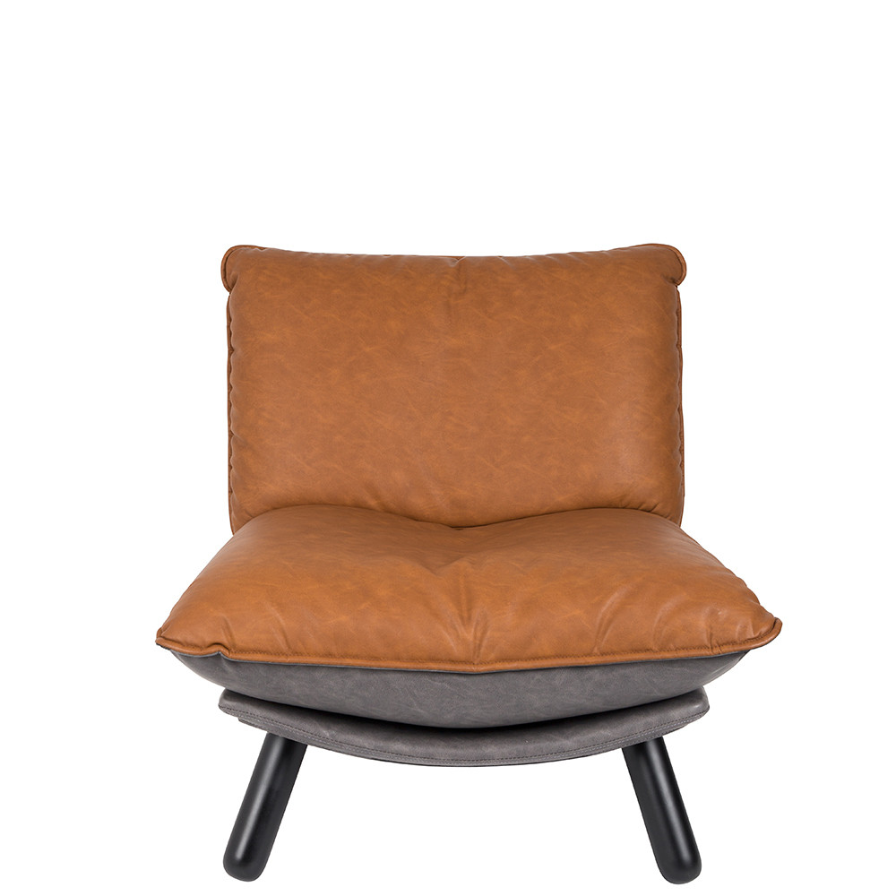 fauteuil lounge simili cuir lazy sack zuiver. Black Bedroom Furniture Sets. Home Design Ideas