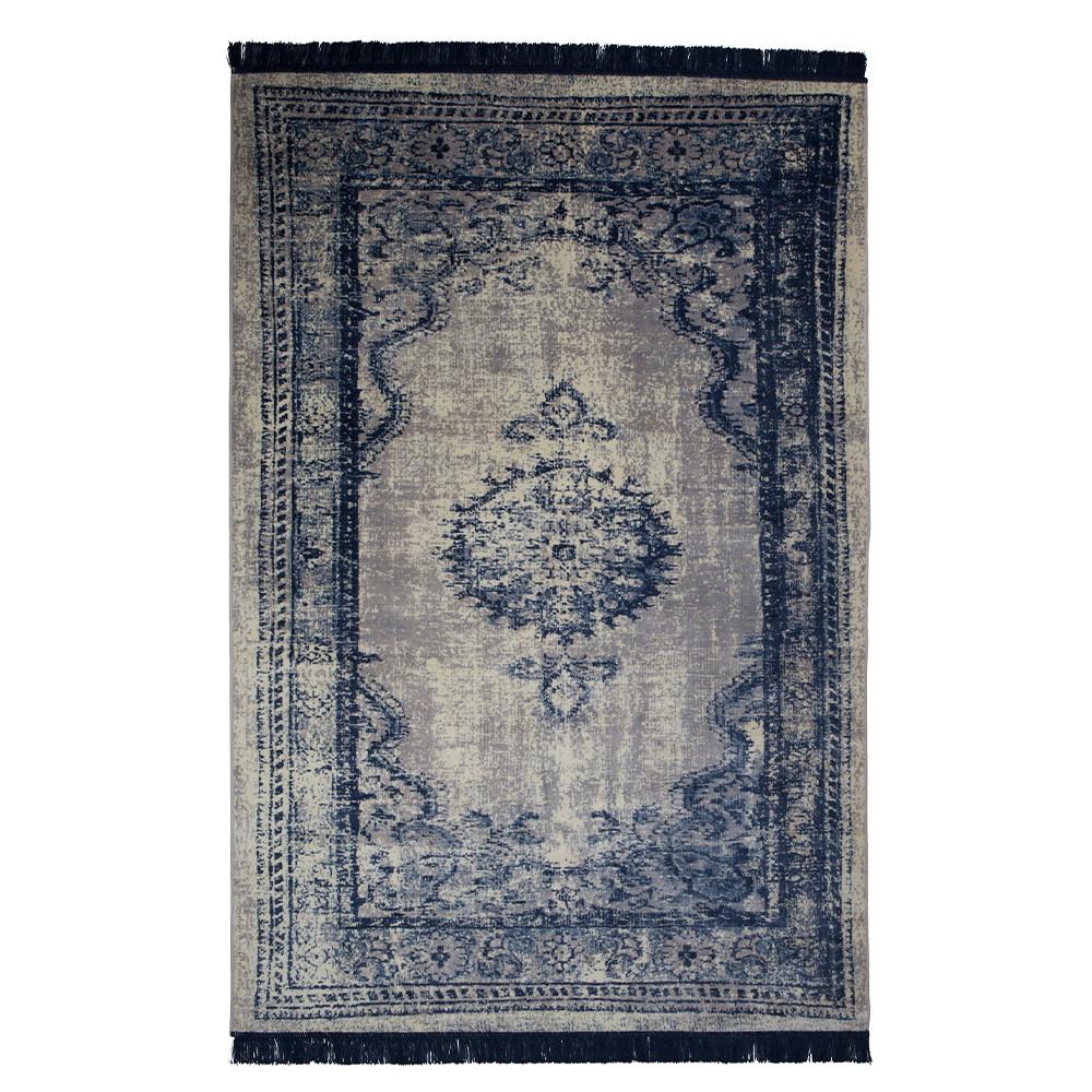 tapis vintage bleu marvel zuiver. Black Bedroom Furniture Sets. Home Design Ideas